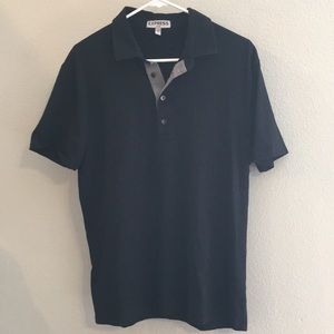 Men's Black express fitted polo shirt
